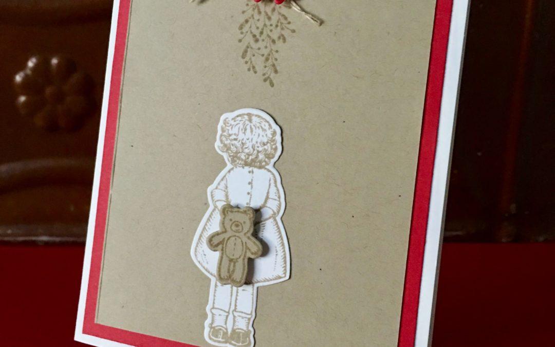 """""""Under the Mistletoe"""" Christmas Card"""