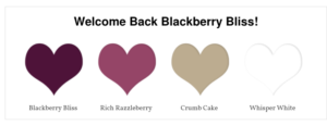 Welcome Back Blackberry Bliss!