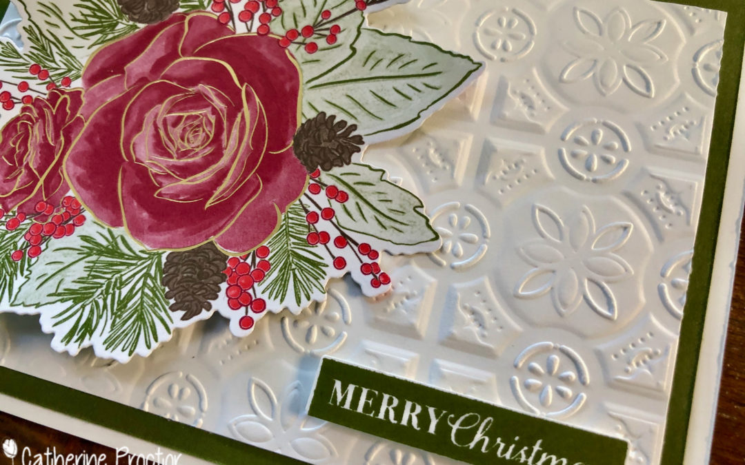Quick & Easy Christmastime Is Here Designer Series Paper Christmas card
