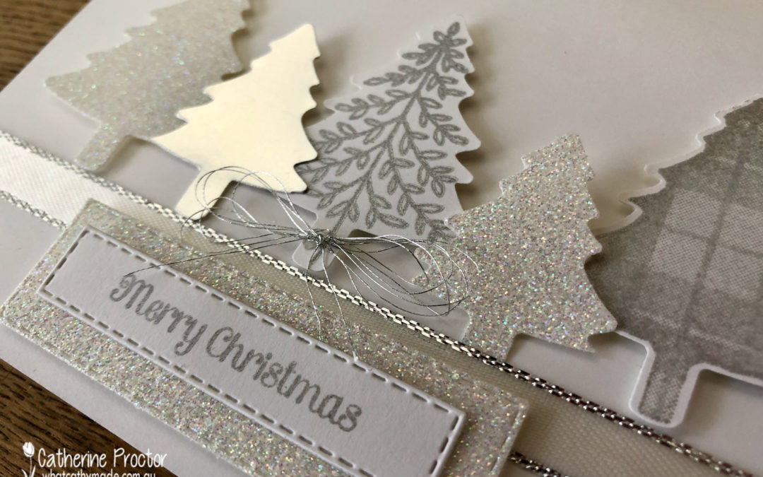 Perfectly Plaid & Pine Tree Punch Christmas Card