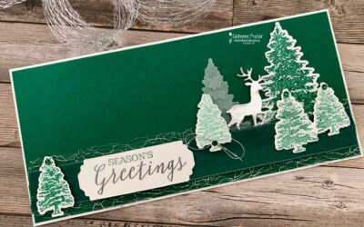 CASEing the Catty – Shaded Spruce and Silver Christmas Card