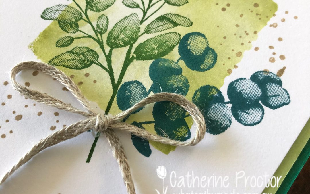 Stampin' Up! Pear Pizazz – Week 33 AWH Colour Creations Showcase