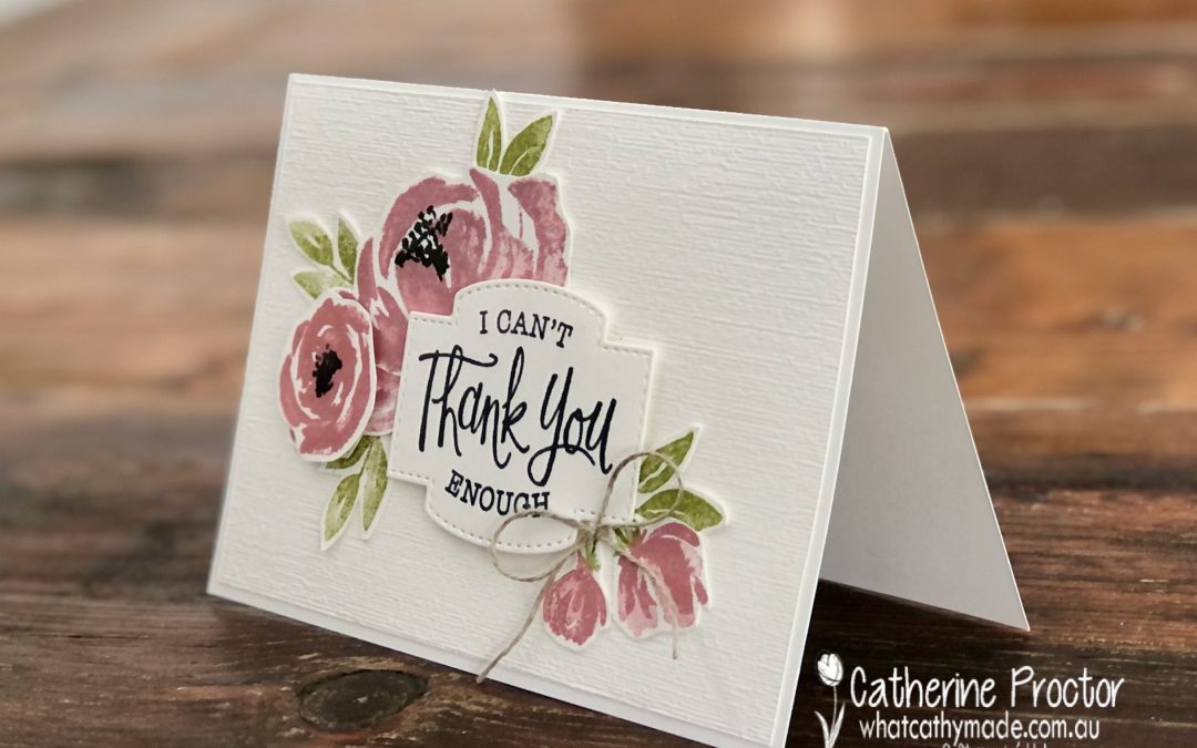 Stampin' Up! Rococo Rose – Week 42 AWH Colour Creations Showcase
