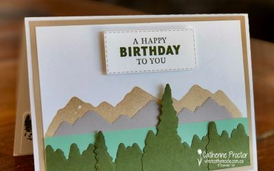 Stampin' Up! Mountain Air Masculine birthday card