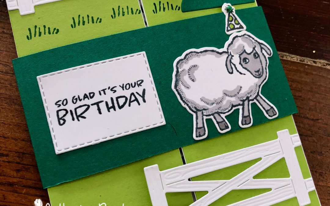 Stampin' Up! Counting Sheep Floating Gatefold Card